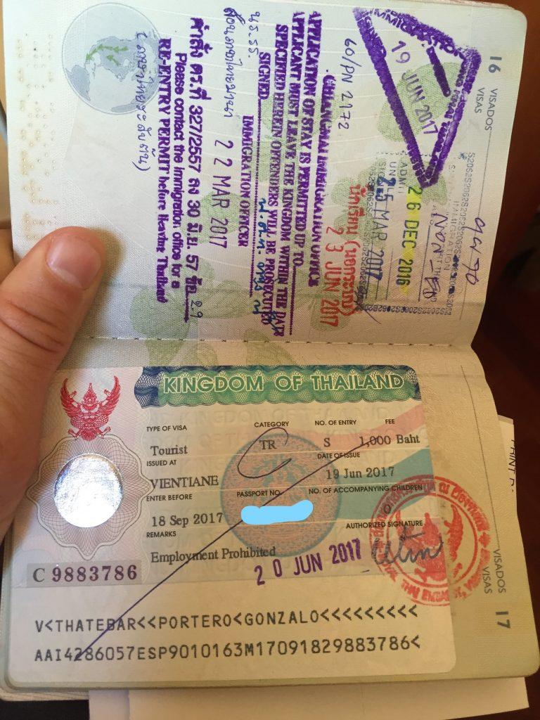 Pasaporte con un visado de 60 días