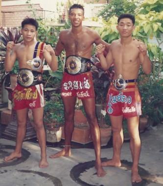 Tres luchadores del Jocky Gym