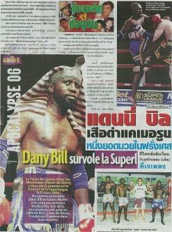 Periodico que muestra a Dany Bill