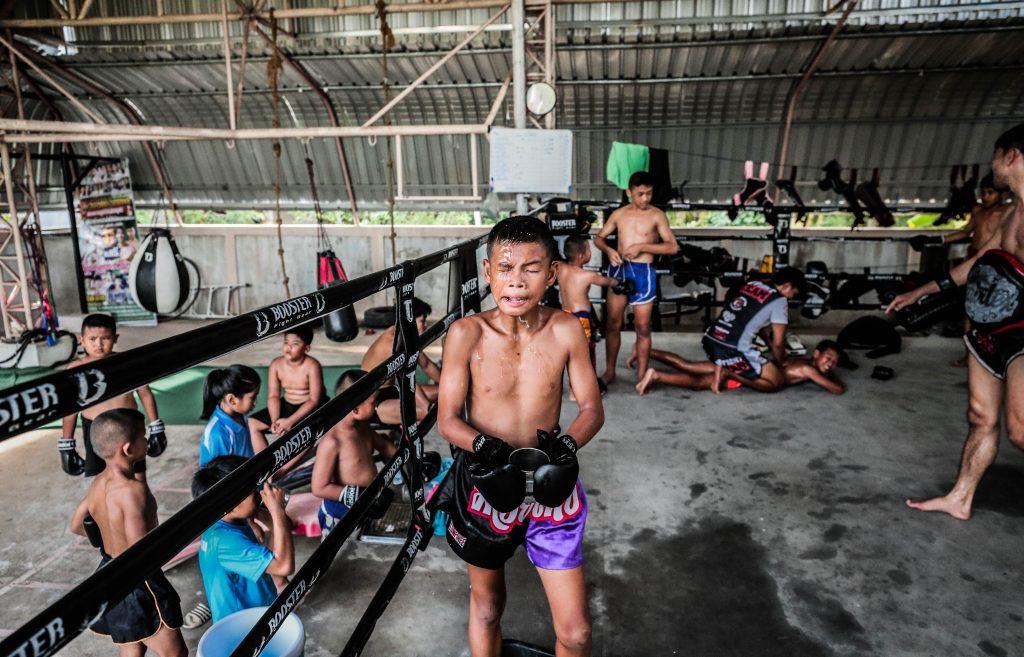 Ambiente de entrenamiento en el Watthana gym
